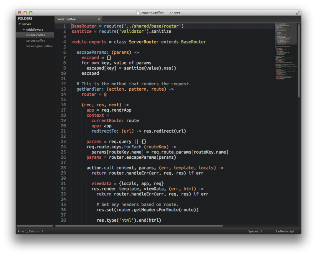 sublime coffeescript